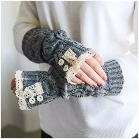 d01b4f9ba51 victoria    lace trim knit arm warmers fingerless